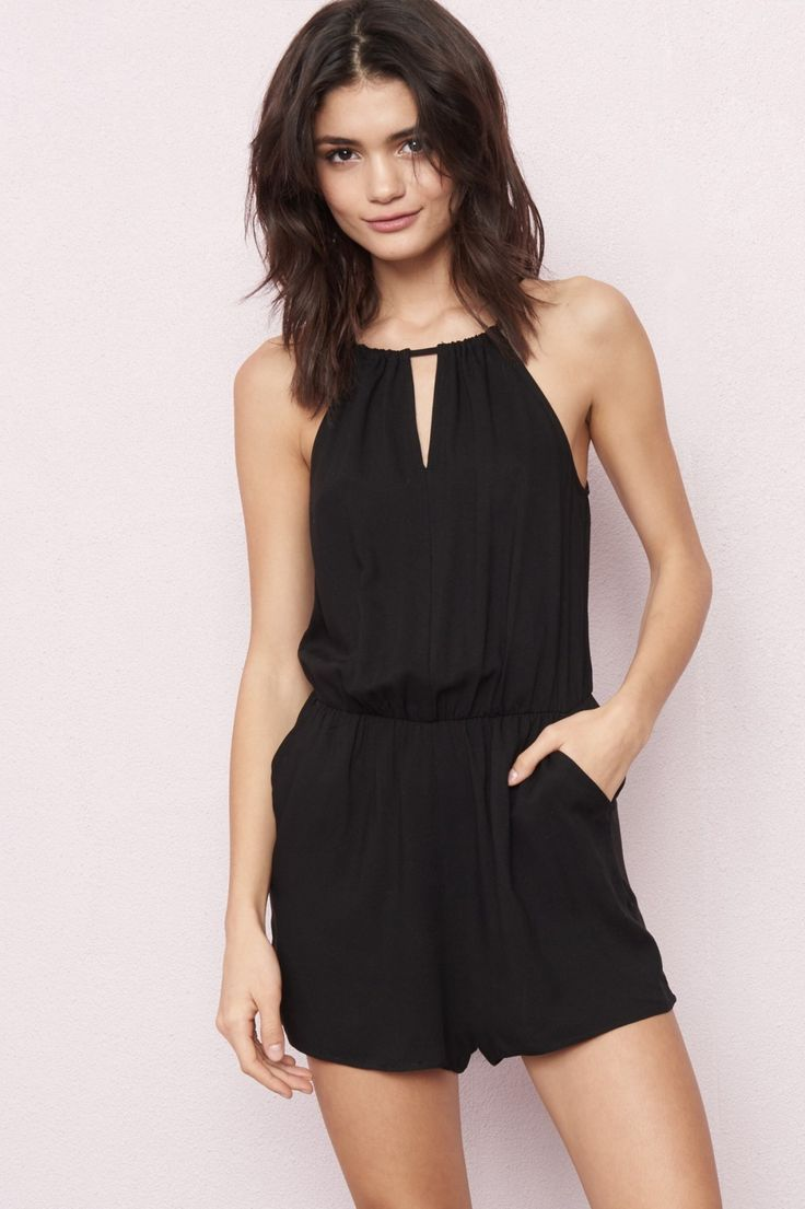The one that I want! - Lace Up Halter Romper