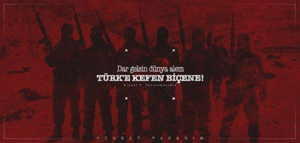 Türkçü Tasarım Askeri Duvar Kağıdı Wallpaper