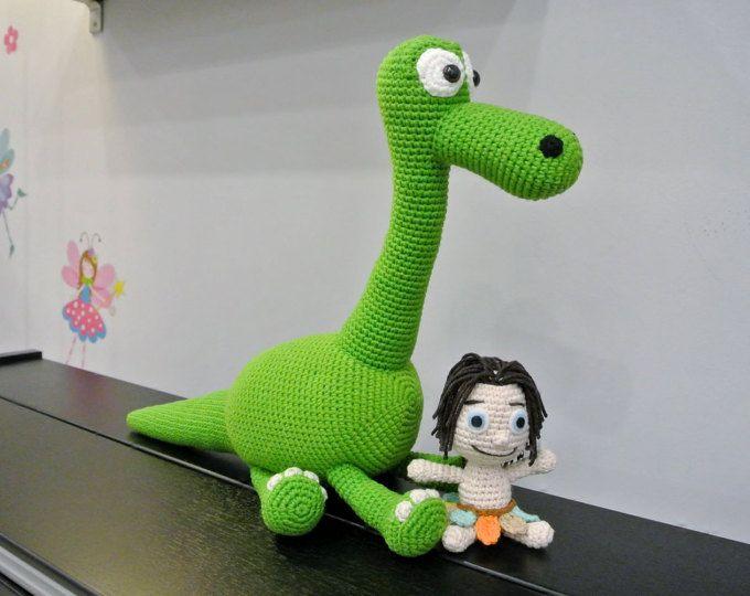 Arlo de ganchillo y punto amigurumis - ganchillo hecho a mano juguete Amigurumi muñeca - el buen dinosaurio Amigurumi - dinosaurio ganchillo - Amigurumi dinosaurio