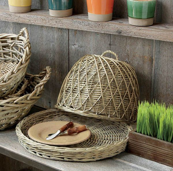 Willow Baskets Dome-Covered Tray $43.90