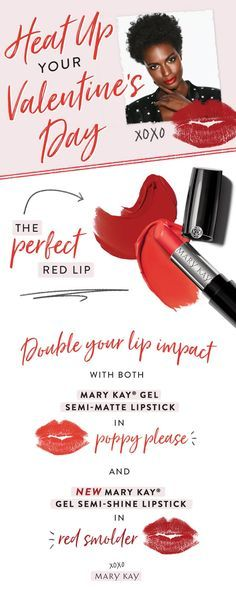 Heat up your Valentine's Day with Mary Kay! Let me help you find the perfect red look for you!