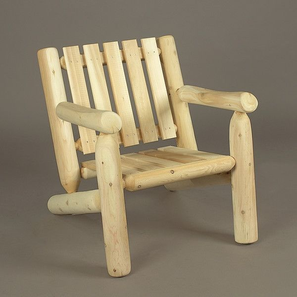 Rustic Natural Cedar® Log Arm Chair   Natural   0100004    AdirondackChairOutlet.com