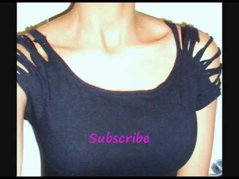 how to diy cut t shirt sleeves - T Shirt Cutting Designs Ideas