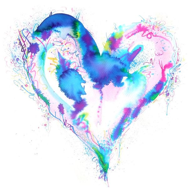 abstract-watercolour-art-painting-love-heart