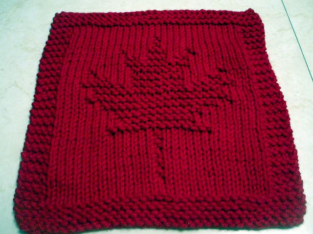 Ravelry: Garden Maple Leaf Knitted Dishcloth pattern by Melissa Bergland Burnham