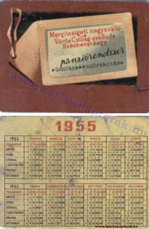 1955 - 1955_0002 - Régi magyar kártyanaptárak