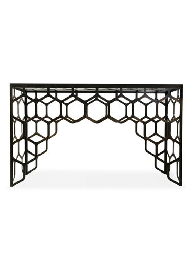 Honeycomb Inspired Design Takes To The Poula Console Table By William  Yeoward.