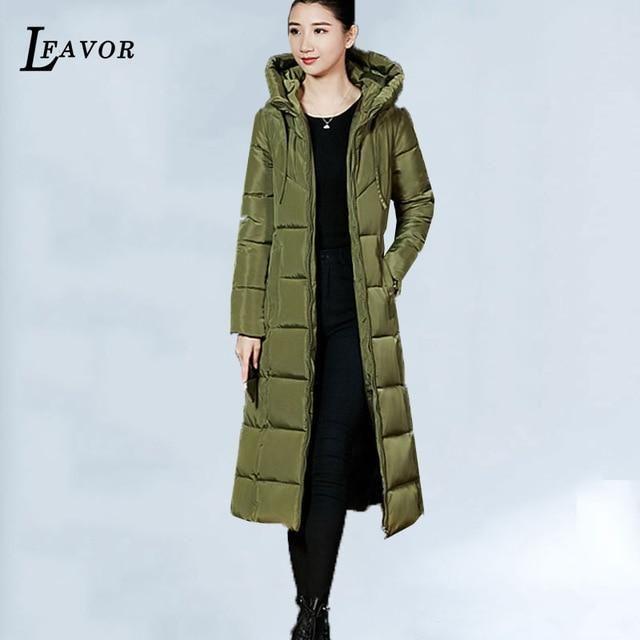 Plus Size 6 Women Winter Jacket Coat Hooded Warm Winter Cotton Padded Jacket Women Long Down parka Outwear casaco feminina 585 A
