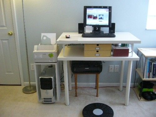 DIY Minimalist Standing Desk For Less Than $30