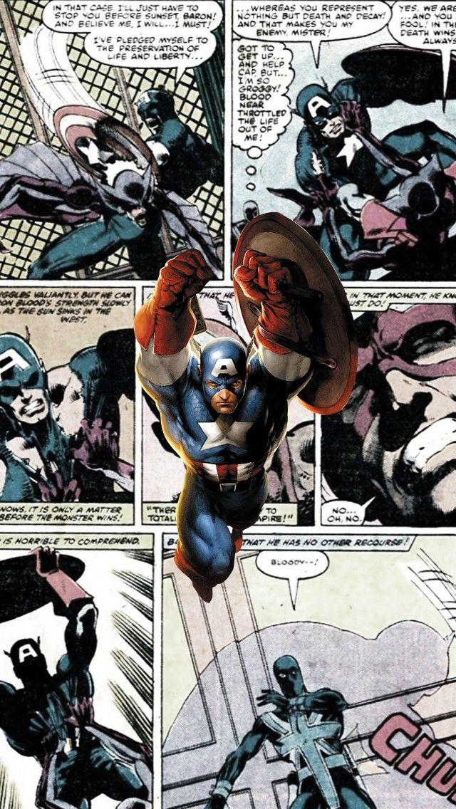 Captain America Comics Iphone 5 Wallpaper Captain