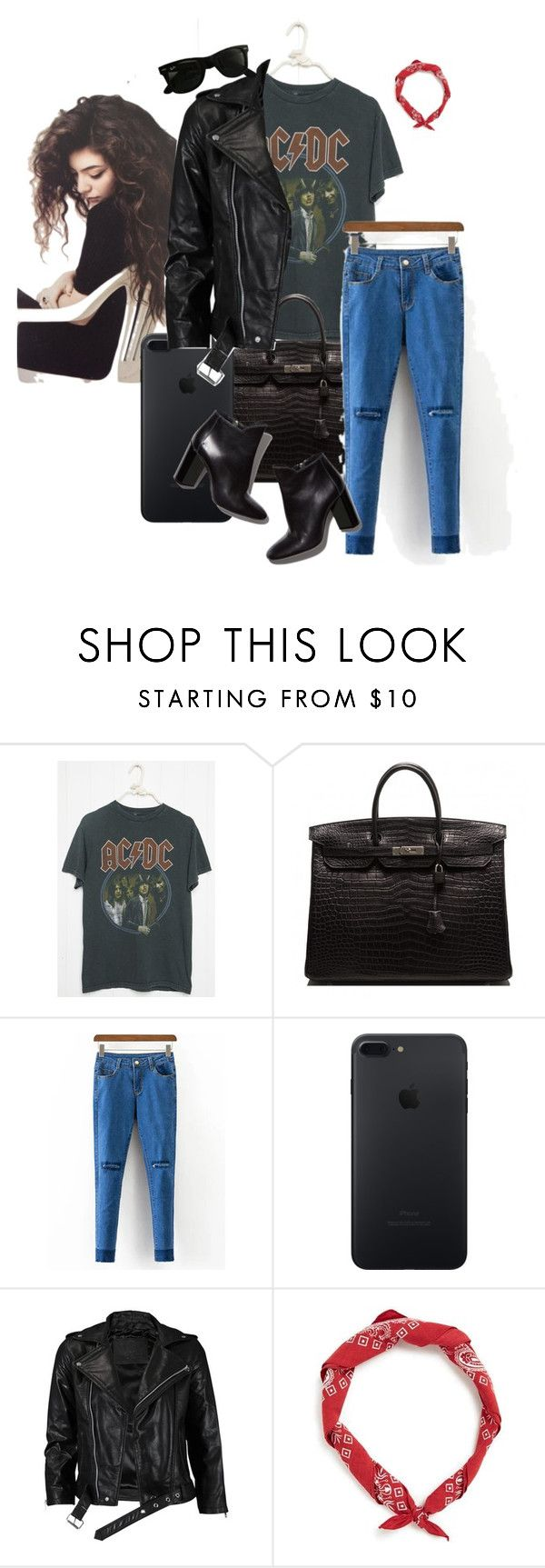 """""""Untitled #148"""" by millanj-fashion on Polyvore featuring Hermès, Pierre Hardy, VIPARO and Ray-Ban"""