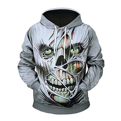 new style 11ad0 bd095 SZIVYSHI Herren 3D Druck Muster Sweatshirt Hoodie ...