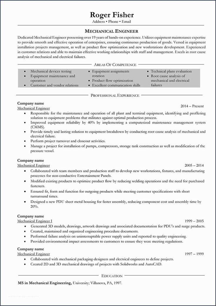 54 mechanical electrical engineer sample resume