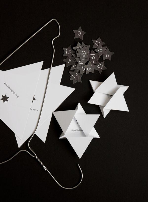 Adventskalender Sterne (mit Faltanleitung) - Handmade Kultur