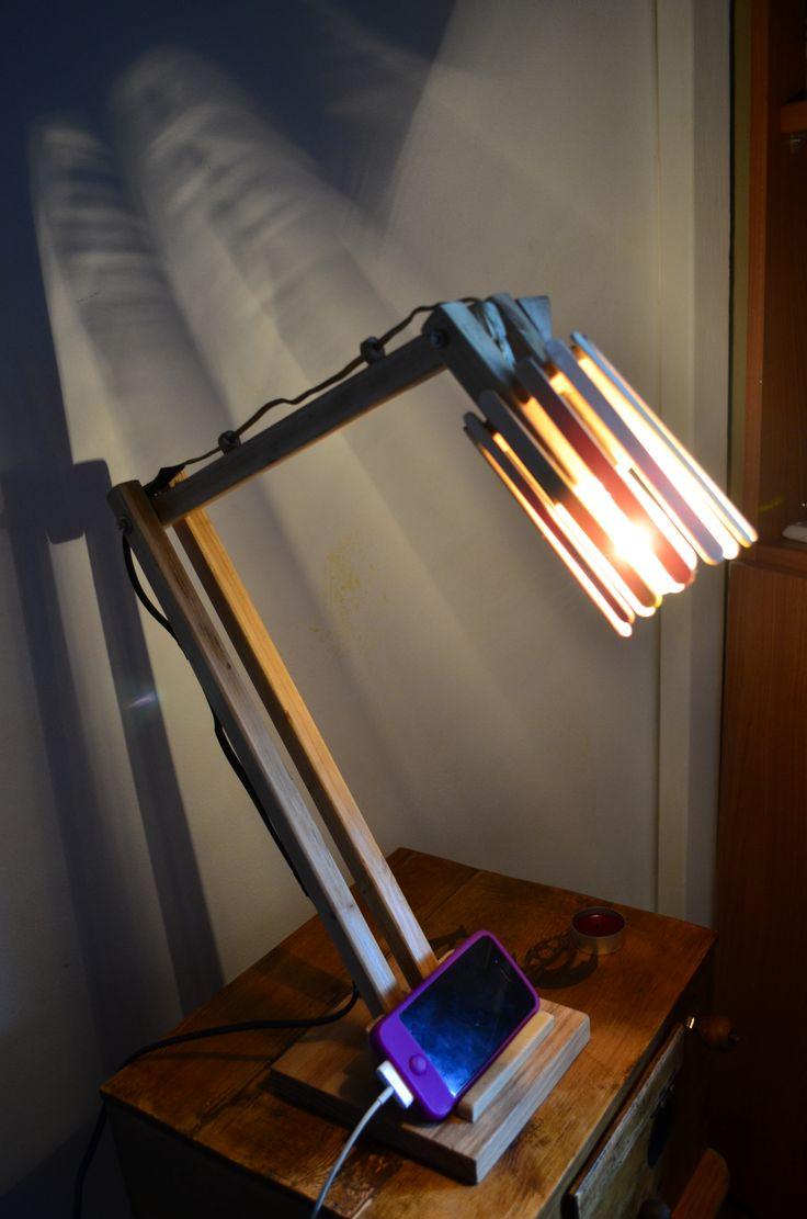 #lamp #diy #icecream #wood #lampada #