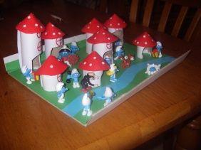 #knutselen met #kinderen: #DIY Smurfendorp bouwen