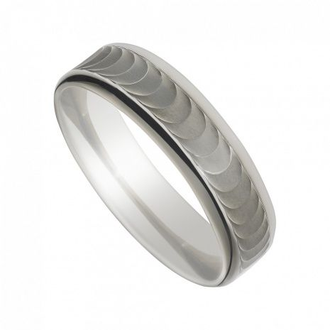 Mens Palladium Wedding Band