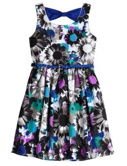 Floral Bow Back Belted Dress | Girls Dresses Clothes | Shop Justice