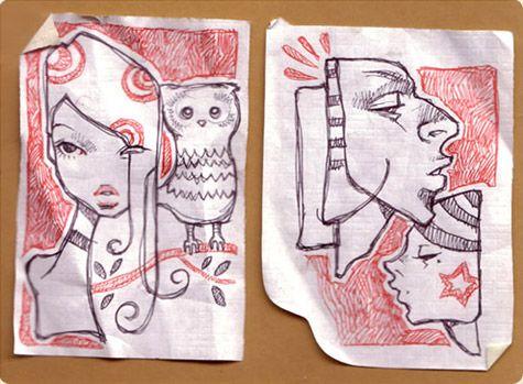 audrey kawasaki doodles