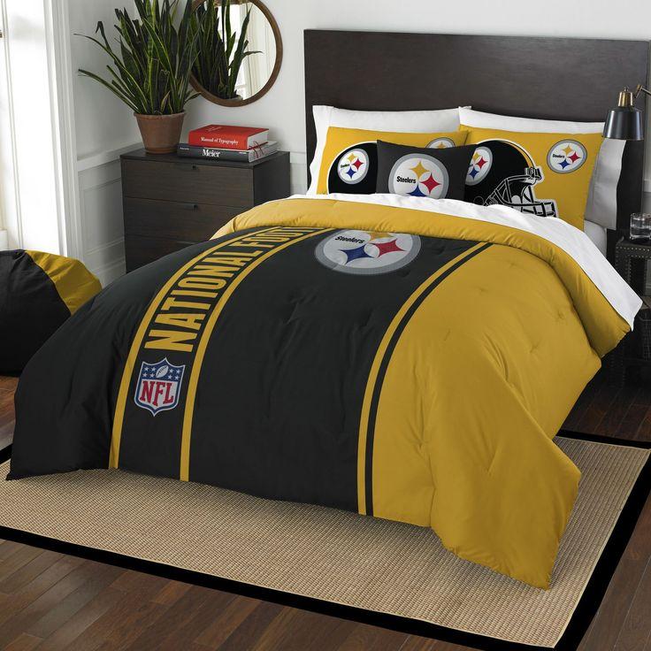 NFL Steelers Helmet Comforter Set