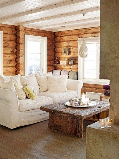 Mountain cottage interior Norwegian