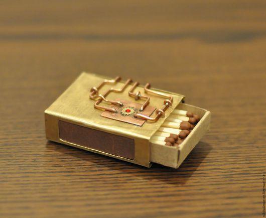 """Подарки для мужчин, ручной работы. Ярмарка Мастеров - ручная работа. Купить Спичечный коробок """"подарочный"""". Handmade. Золотой, спичечный коробок"""