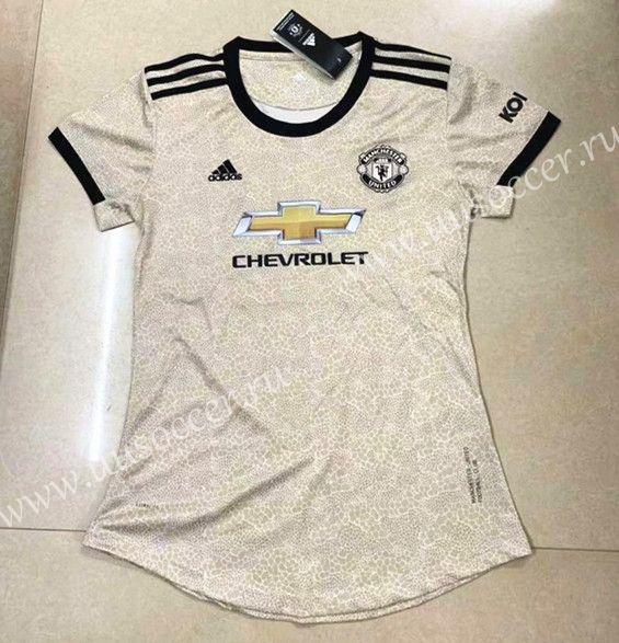 2019 2020 Manchester United Away Dark Yellow Thailand Female Soccer Jersey Aaa 708 Soccer Jersey Womens Soccer Football Sweater
