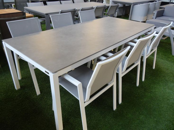 78 best images about alu inox garden furniture on pinterest gardens taupe and miami - Tuinmeubelen laag aluminium ...