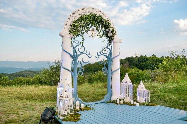 """Арт объект на свадьбе """"Властелин колец""""  Tolkien, """"Lord of Rings"""" wedding."""