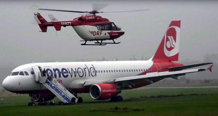 Am Samstag schoss ein AIRBUS Flugzeug, auf dem Flughafen Sylt, über die Landebahn hinaus.