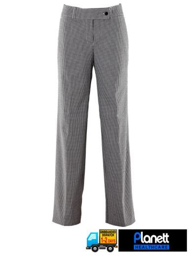 Chef Wear : LADIES FLAT FRONT CHEF TROUSER - Uniforms