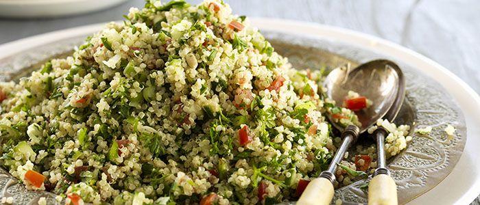 Quinoa & Basil Pesto Tabbouleh recipe from Food in a Minute