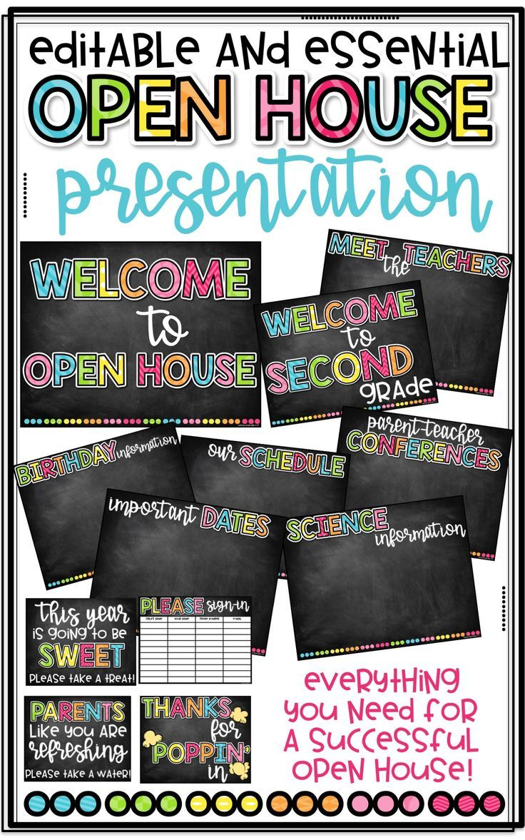Chalkboard Back To School Powerpoint School Events Open