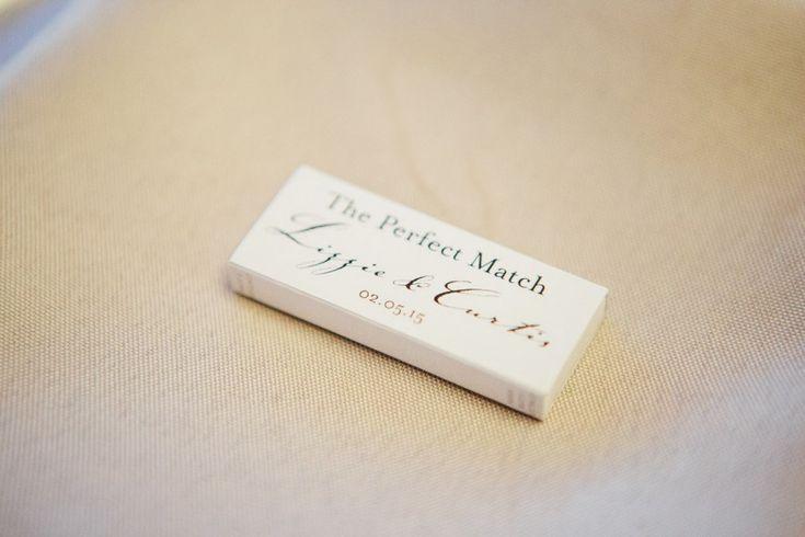 Personalised matchboxes. A wedding at the Landing at Dockside for Lizzie & Curtis - Wedding Entertainment & Lighting by G&M DJs | Featured on @easyweddings & captured by @wildflowerwedd #gmdjs #weddinglighting #weddingdjbrisbane @gmdjs
