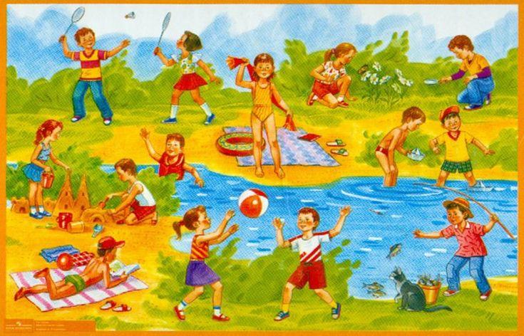 Describing Summer Activities. Visit: www.emilieslanguages.com or https://www.facebook.com/emilieslanguages #emilieslanguages #summer