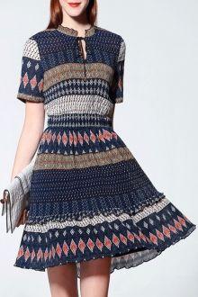 Pleated Ethnic Dress