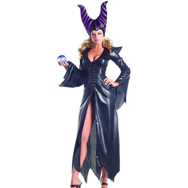 Black 2 pc furious fairy costume ($91) ❤ liked on Polyvore featuring costumes, black, fairy costume, horns costume and fairy halloween costumes