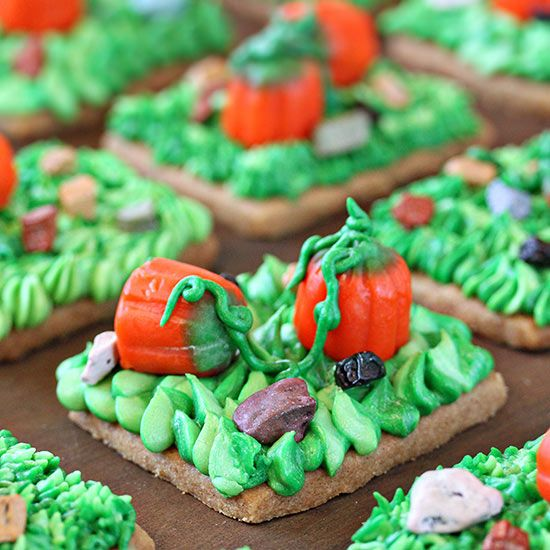 Celebrate autumn with a trip to the pumpkin patch! Your kids will love decorating these sweet treats: http://www.bhg.com/halloween/recipes/halloween-treats-kids-can-make/?socsrc=bhgpin102214pumpkinpatchshortbreadcookies&page=16