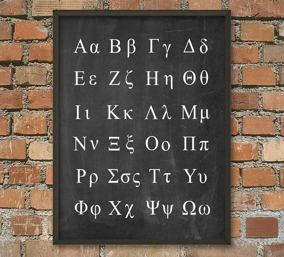 greek alphabet poster greek language science print greek letters classic greek alphabet mathematics science greek symbols