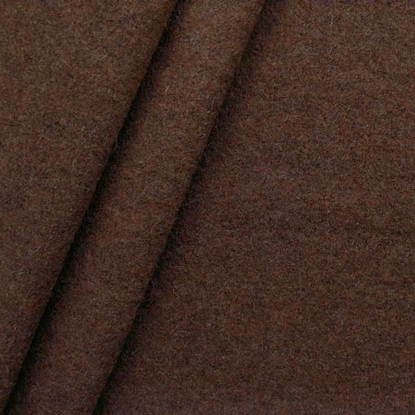 100% Wolle Walkloden Farbe Mahagoni-Braun meliert