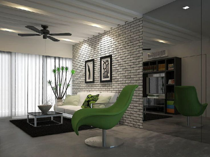 Living Room Brick Feature WallFeature