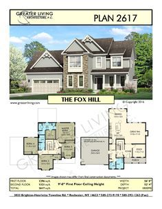 Plan 2617: THE FOX - Two Story House Plan - Greater Living Architecture - Residential Architecture