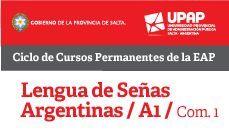 Inscribite hoy al Curso: LENGUA DE SEÑAS ARGENTINAS (A 1) Cupos limitados Más info en http://eapsalta.gov.ar/?utm_content=buffer0f03d&utm_medium=social&utm_source=pinterest.com&utm_campaign=buffer
