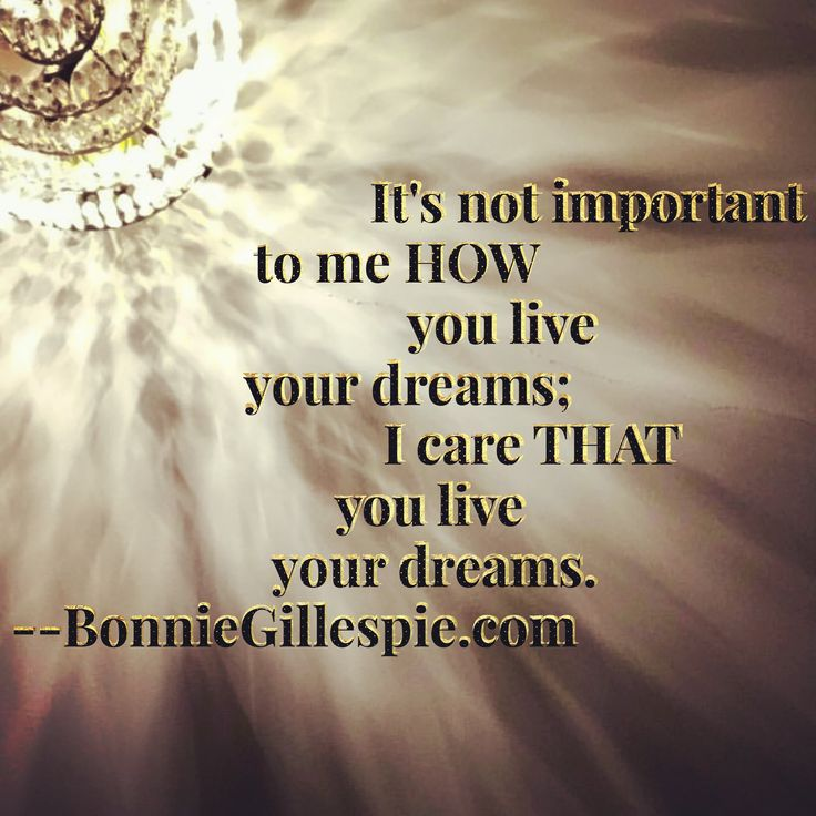 """It's not important to me HOW you live your dreams; I care THAT you live your dreams. Hit bonniegillespie.com for FREE inspiration and guidance on bringing more joy to your creative career from the author of """"Self-Management for Actors,"""" Bonnie Gillespie!"""