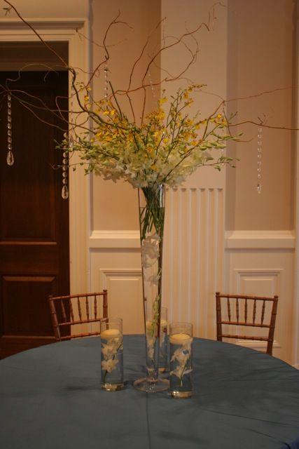 Best trumpet vase centerpiece ideas on pinterest