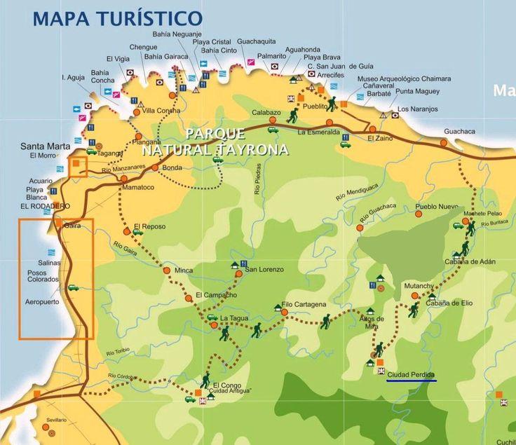 ciudad perdida colombia map - Google Search