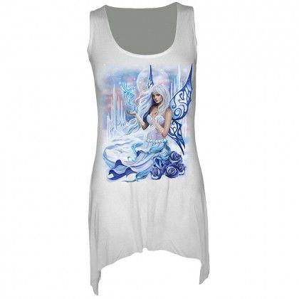 Winter Fairy - hvit tunika kjole til dame