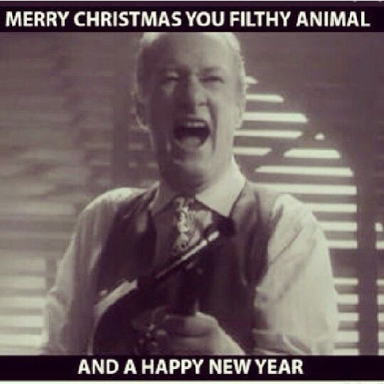 Merry Chrisrmas You Filthy Animal....Happy New Year (home