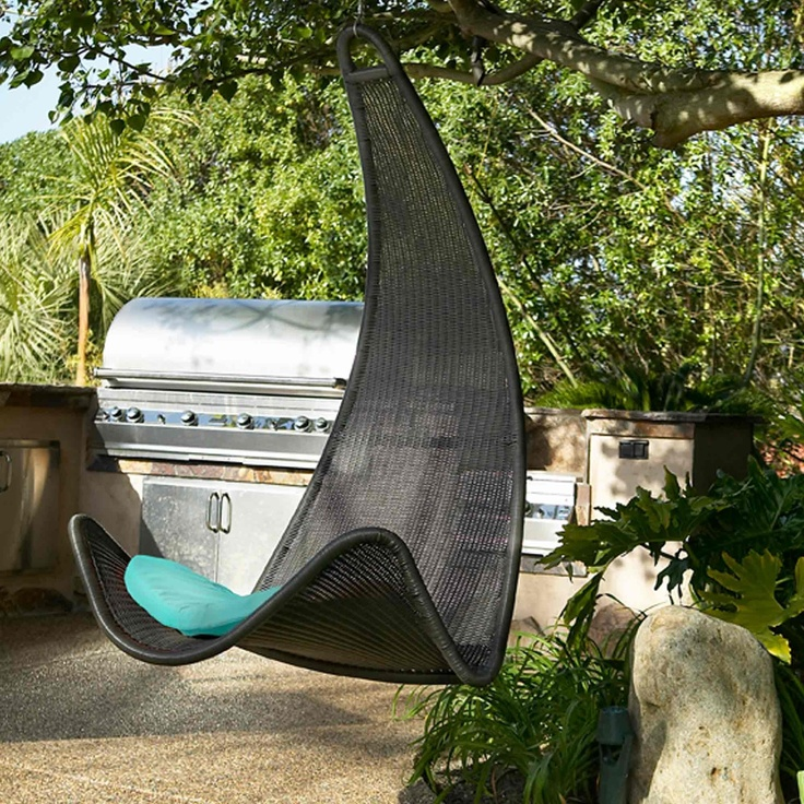 Curve Hanging Wicker Chair   Porch Swings   Outdoor Furniture
