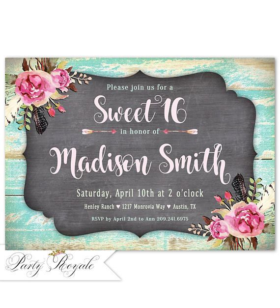 272 best Teen Birthday Invitations images on Pinterest